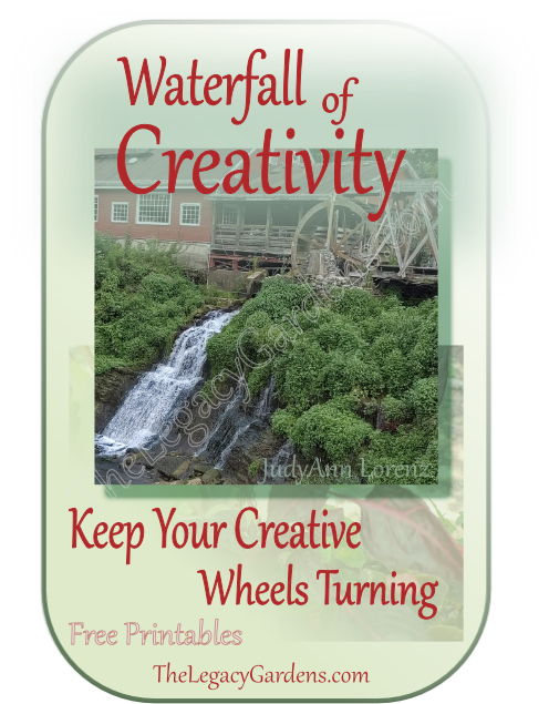 image includes view of historic Ohio mill wheel and water fall