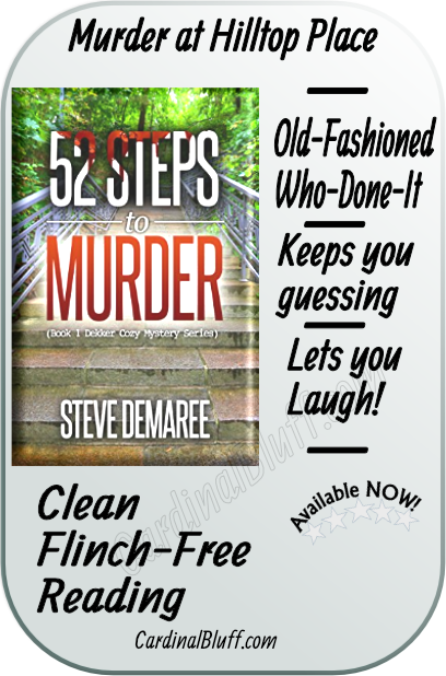 graphic featuring 52 steps to murder