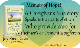 Caregiver's true story - Mother Can You Hear Me? Joy Ross Davis Author