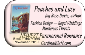 Peaches and Lace, Joy Ross Davis, author — NOVEMBER 2019 Book of the Month at Cardinal Bluff