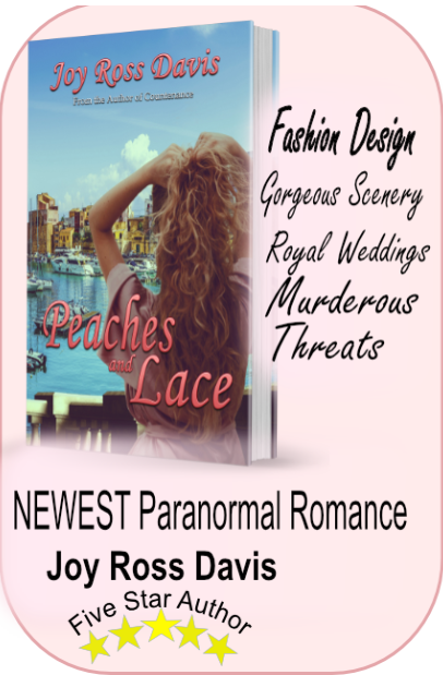 Peaches and Lace, paranormal romance, joy ross davis, author