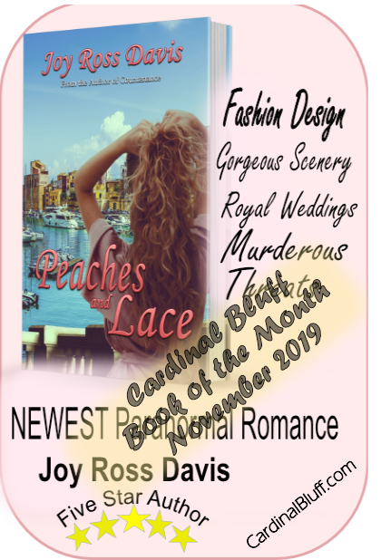Peaches and Lace, paranormal romance, Joy Ross Davis, author. Featured book of the month, November 2019