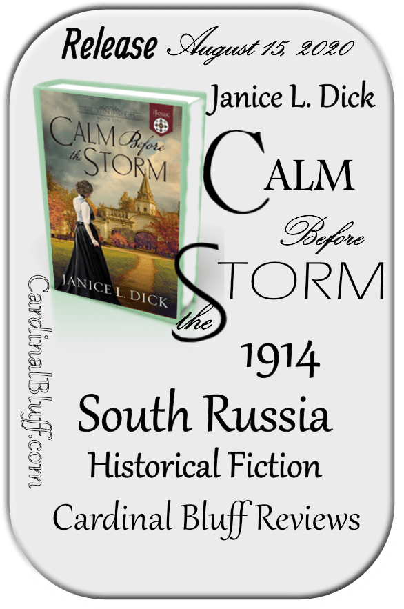 Graphic for Calm Before the Storm, Janice L. Dick author. Faith based historical fiction