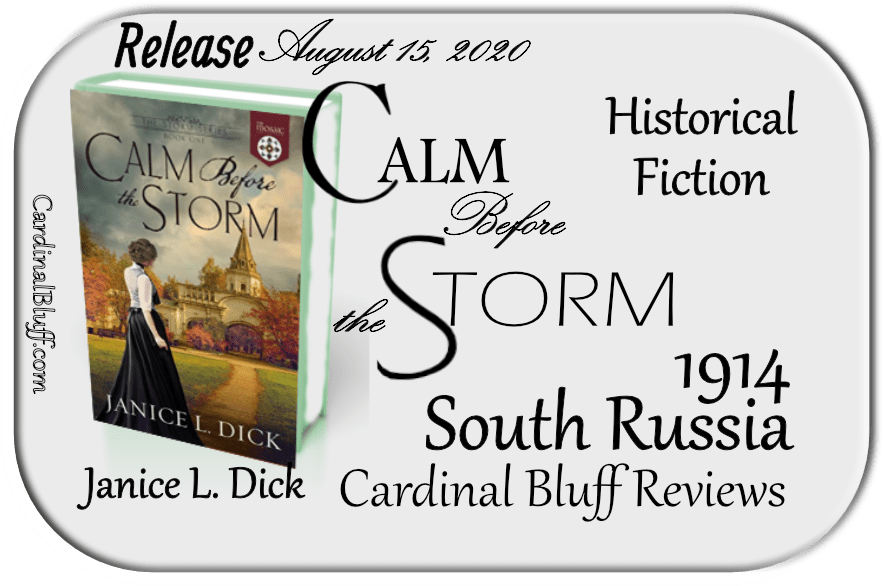 Faith based historical fiction. Calm Before the Storm, Janice L. Dick, author